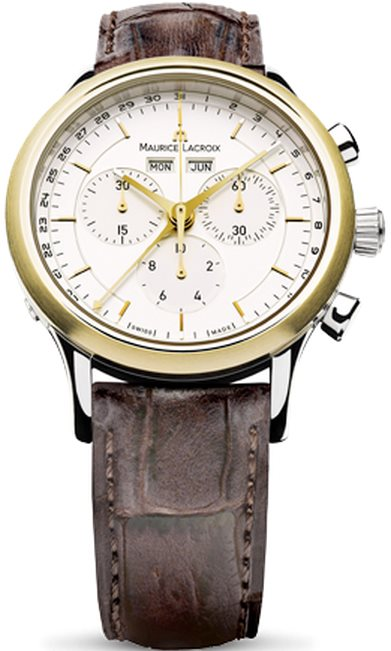 1e5397a3 Мужские часы Maurice Lacroix LC1008-PVY11-130 Les Classiques Chronographe -  купить по цене 35480 в грн в Киеве, Днепре, отзывы в интернет-магазине  Timeshop