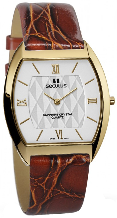 Женские часы Seculus 1613.1.106 white, pvd, brown leather - купить по цене 6749 в грн в Киеве, Днепре, отзывы в интернет-магазине Timeshop
